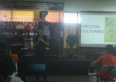 "Seminar & Workshop ""Emotion Culturing"" – Unika Soegijapranata"