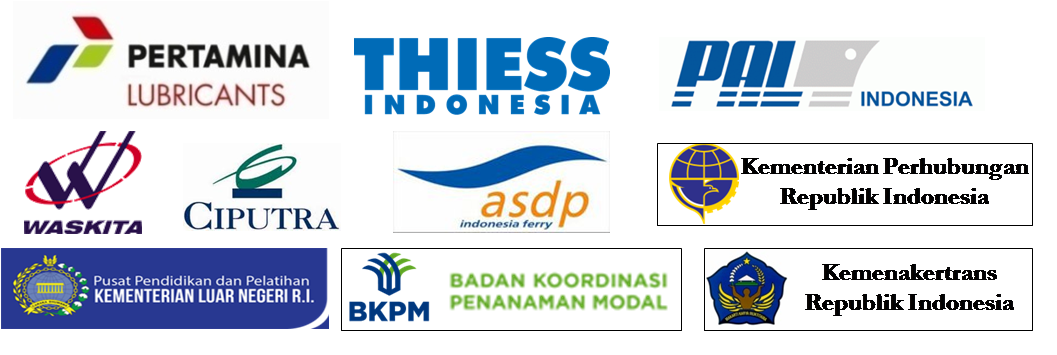Pertamina Lubricants, Thiess Contractors Indonesia, Ciputra Group, ASDP Indonesia Ferry, Waskita Karya, Kemenhub RI, Kemenlu RI, Kemenakertrans RI, BKPM