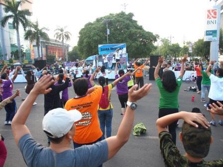 Project - Olahraga Tawa di Semarang - PDGI - Para Peserta Mengikuti dengan Antusias