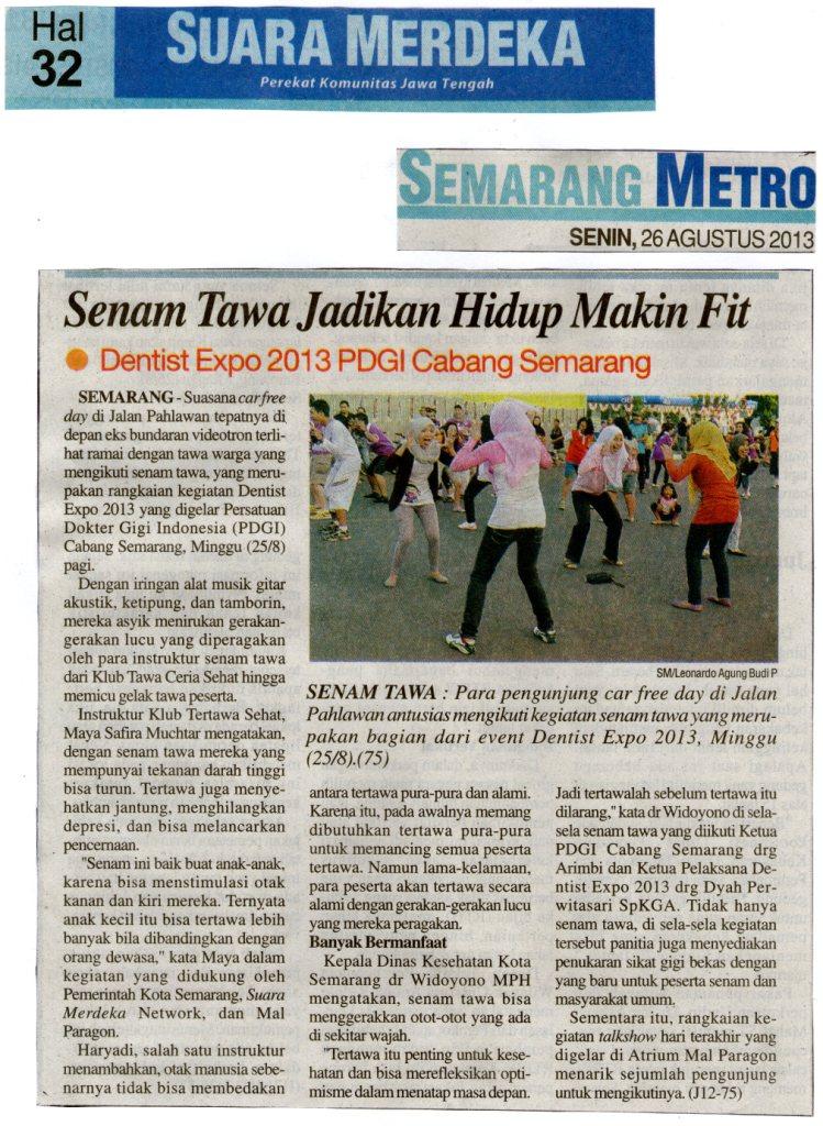Olahraga Tawa di Semarang - PDGI - Liputan di Suara Merdeka
