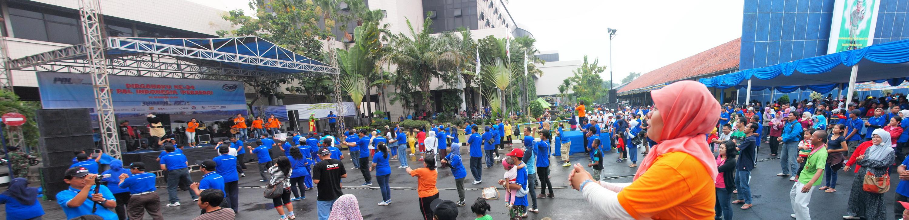 Project - Olahraga Tawa PT. PAL Indonesia (Persero) - Ramainya suasana dengan 1000 peserta