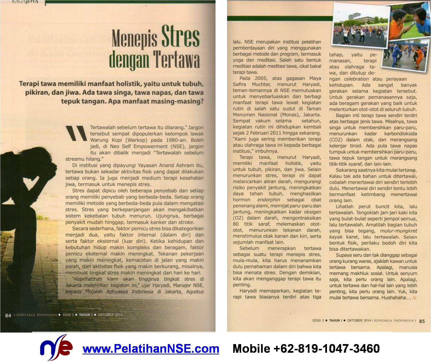 Terapi Tawa - Majalah Adhyaksa Indonesia Edisi 3 - Tahun I - Oktober 2014