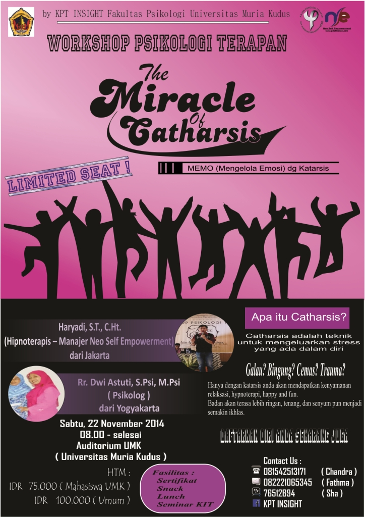 Workshop The Miracle of Catharsis 1 - Universitas Muria Kudus