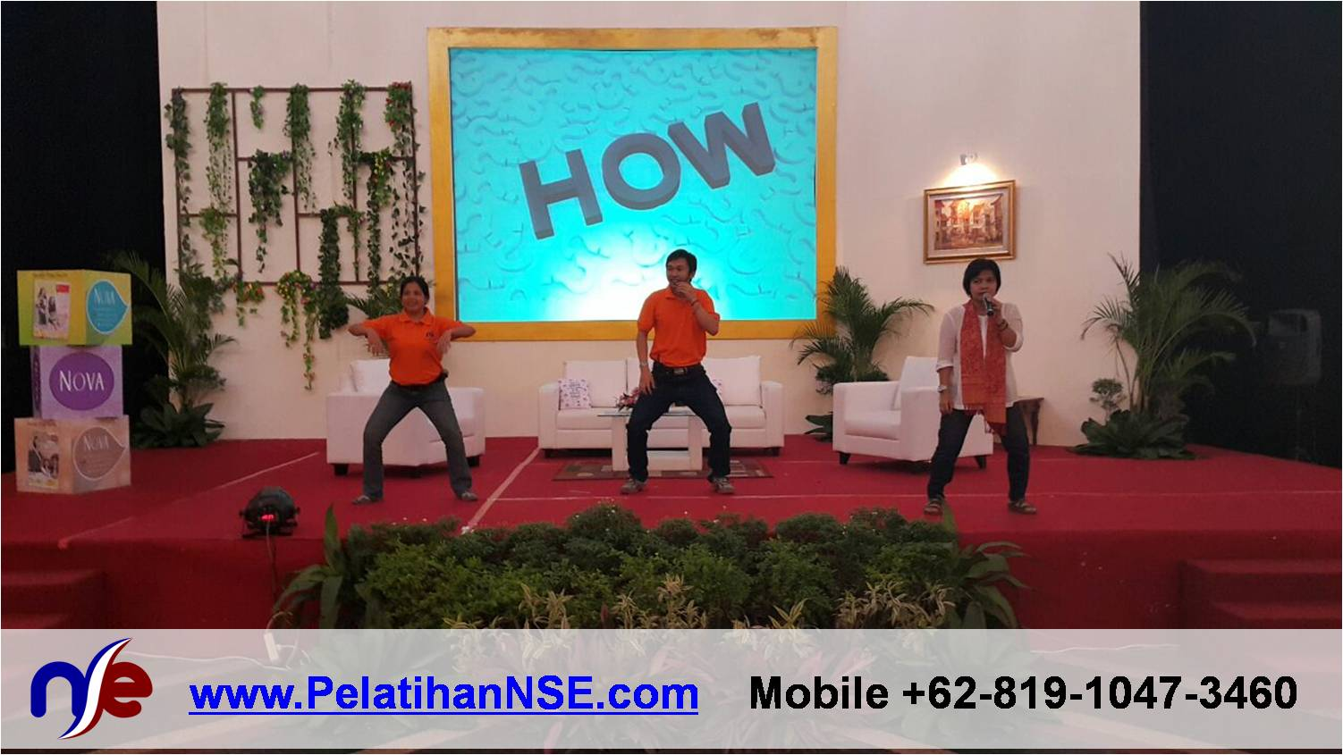 Yoga Tawa - Nova Inspiring Day 29 April 2015 - Tim NSE menjelaskan Langkah Melakukan Tawa Singa