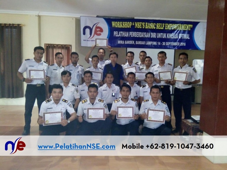"Workshop ""NSE's Basic Self Empowerment"" Angkatan VI Tahun 2016 – PT. KAI (Persero)"