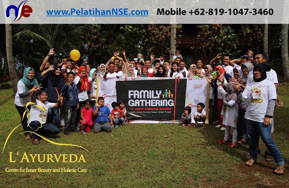 L'Ayurveda Pelatihan NSE - Family Gathering Kereta Commuter Indonesia Angkatan I Tahun 2018 - 20-21 Maret 2018 - Foto bersama seluruh pe