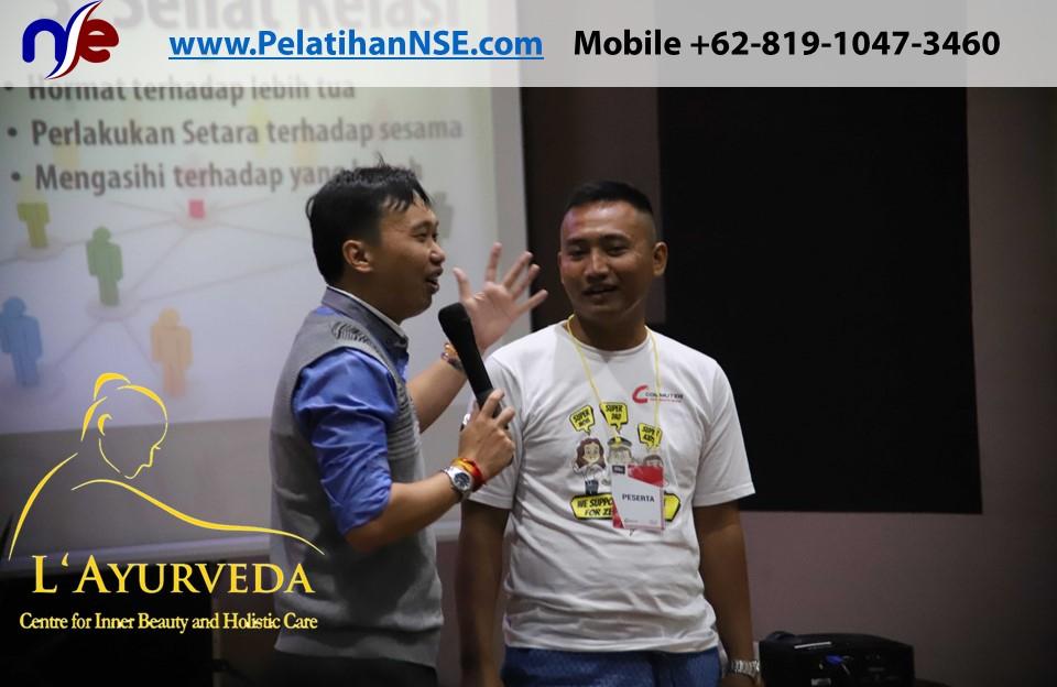 L'Ayurveda Pelatihan NSE - Family Gathering Kereta Commuter Indonesia Angkatan I Tahun 2018 - 20-21 Maret 2018 - Pak Haryadi membahas ko