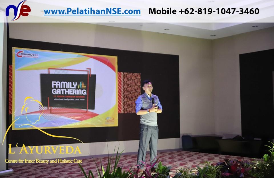 L'Ayurveda Pelatihan NSE - Family Gathering Kereta Commuter Indonesia Angkatan I Tahun 2018 - 20-21 Maret 2018 - Pak Haryadi menyampaika