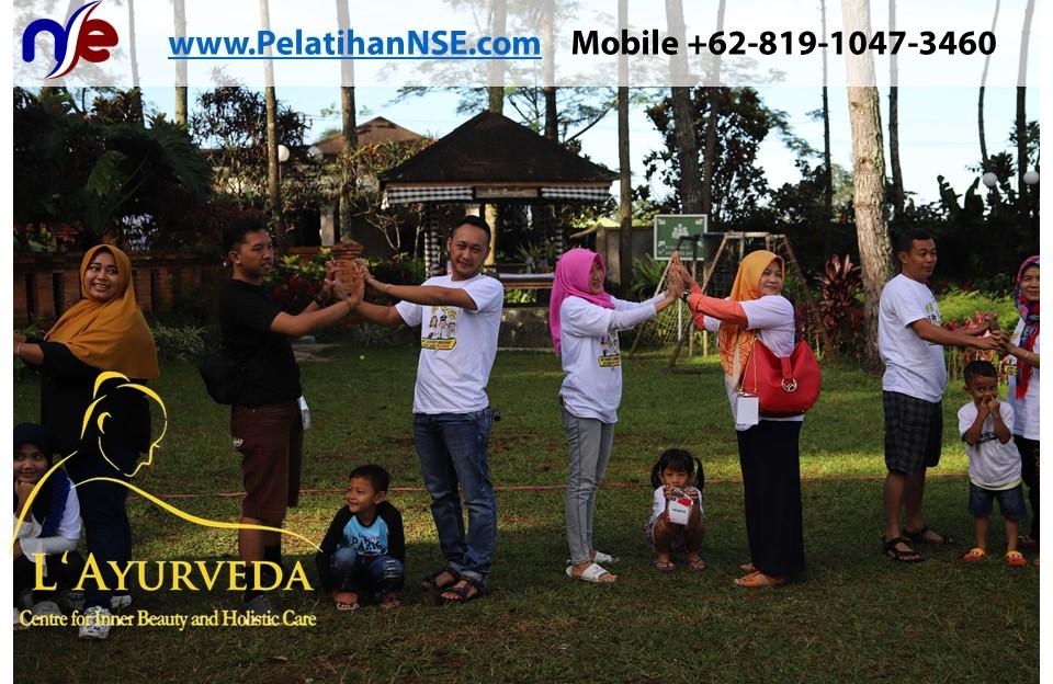 L'Ayurveda PelatihanNSE - Family Gathering Kereta Commuter Indonesia Angkatan III 2018 - 27-28 Maret 2018 - Anak-anak ikut bermain