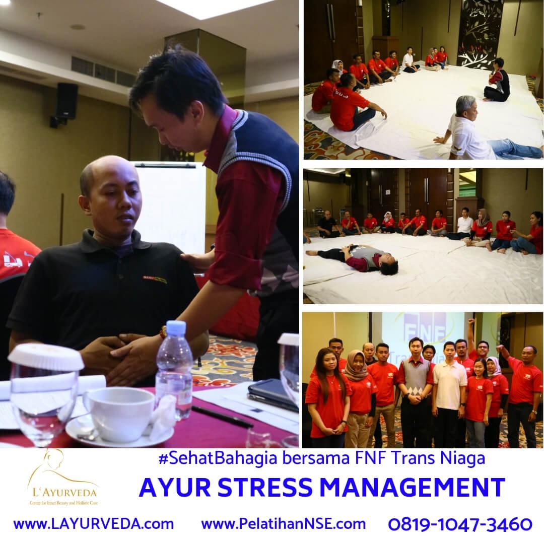 Ayur Stress Management - FNF Trans Niaga - Mempelajari Rileksasi dan Cara Pernapasan yang Tepat