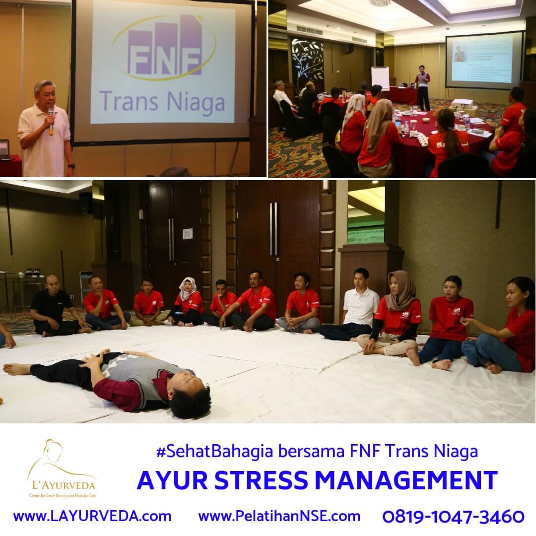 Ayur Stress Management - FNF Trans Niaga - Pembukaan oleh Direktur Pak Frans dan Materi dari Pak Hari