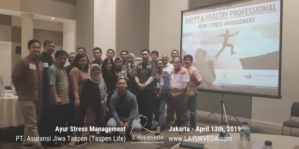 Ayur Stress Management - Taspen Life 13 April 2019 - Foto Bersama