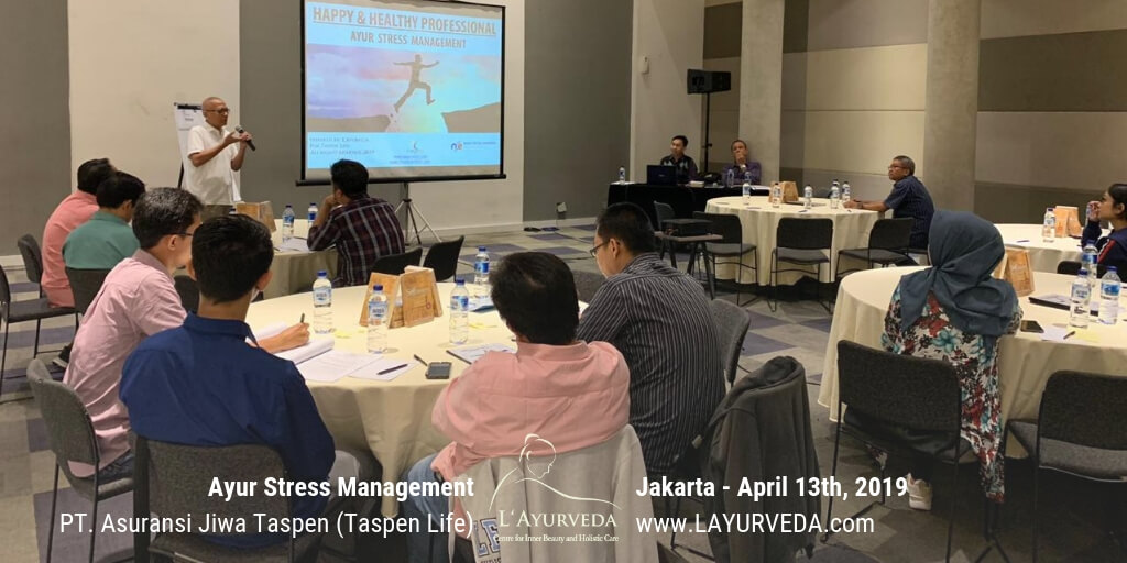 Ayur Stress Management - Taspen Life 13 April 2019 - Sambutan Direktur Keuangan dan Umum Pak Ida Bagus Nugraha