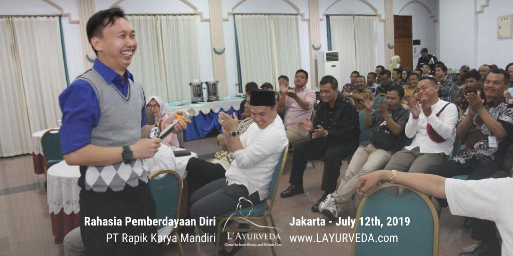 Rahasia Pemberdayaan Diri - Rapik Karya Mandiri - 12 Juli 2019 - Interaksi dengan Dirut RKM