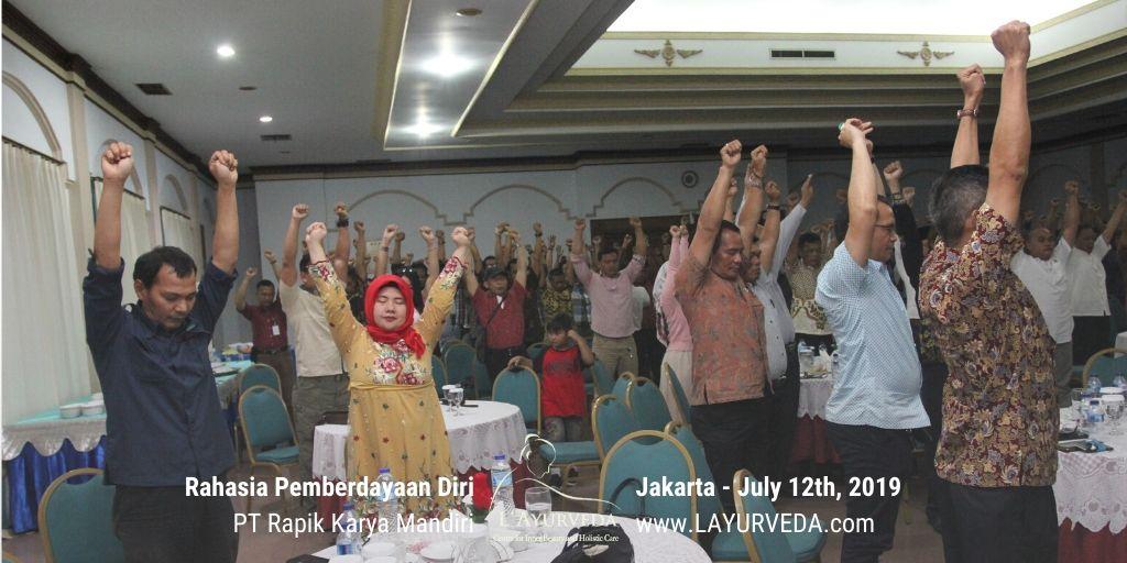 Rahasia Pemberdayaan Diri - Rapik Karya Mandiri - 12 Juli 2019 - Sesi Latihan Rileksasi - 3