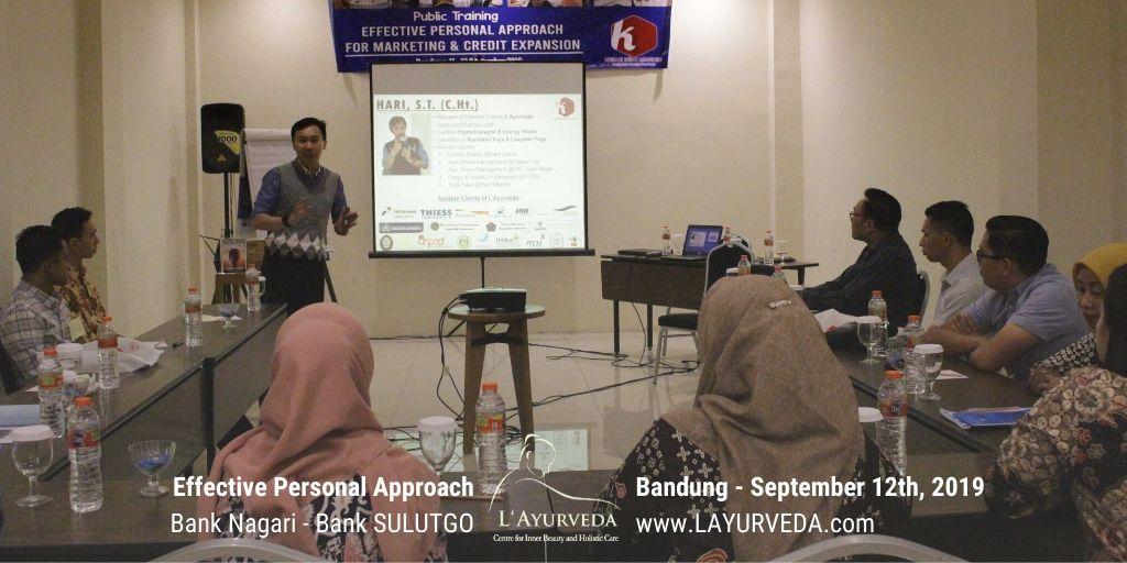 Effective Personal Approach - Bank Nagari & Bank Sulutgo - 12 September 2019 - Pak Hari memperkenalkan diri