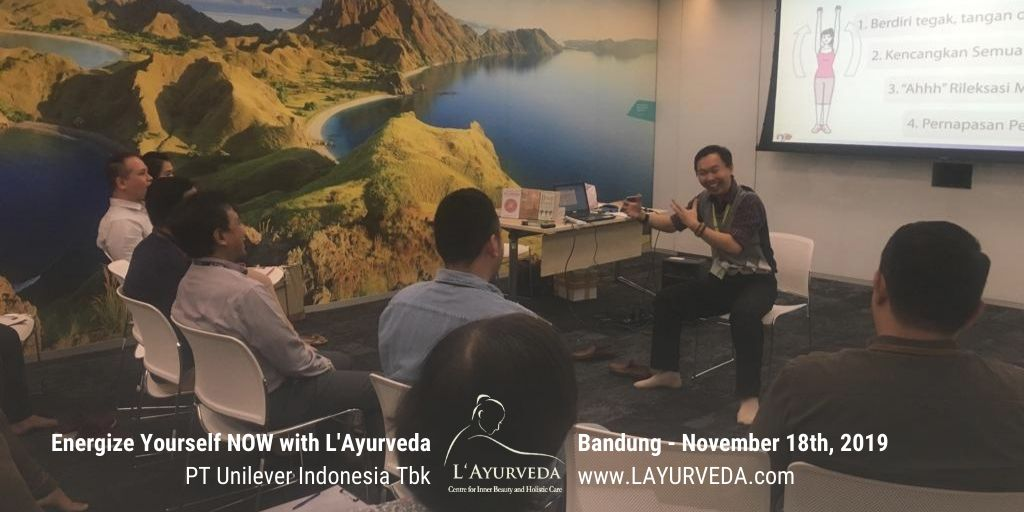Energize Yourself NOW with L'Ayurveda - Unilever Indonesia - 18 November 2019 - Penjelasan tentang Speedy Relaxation Technique